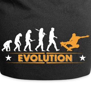 Skateboard Evolution - orange/weiss Casquettes et bonnets - Bonnet en jersey