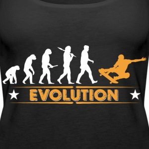 Skateboard Evolution - orange/weiss Tops - Women's Premium Tank Top