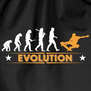 Skateboard Evolution - orange/weiss Bags & Backpacks - Drawstring Bag