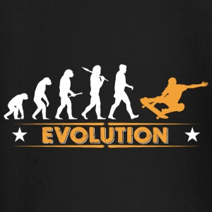 Skateboard Evolution - orange/weiss Langermede T-skjorter for babyer - Langarmet baby-T-skjorte