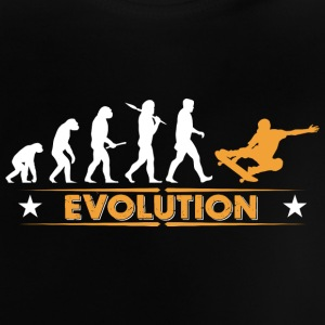 Skateboard Evolution - orange/weiss Baby T-shirts - Baby T-shirt