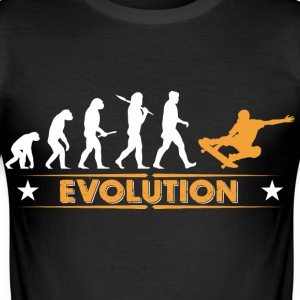Skateboard Evolution - orange/weiss Tee shirts - Tee shirt près du corps Homme