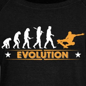 Skateboard Evolution - orange/weiss Sweat-shirts - Pull Femme col bateau de Bella
