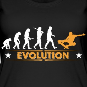 Skateboard Evolution - orange/weiss Tops - Frauen Bio Tank Top