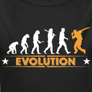 Hip hop break dance evolution - arancio/bianco Body neonato - Body ecologico per neonato a manica lunga