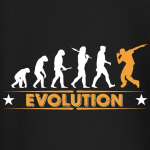 HipHop break dance evolution - orange/white Baby Long Sleeve Shirts - Baby Long Sleeve T-Shirt
