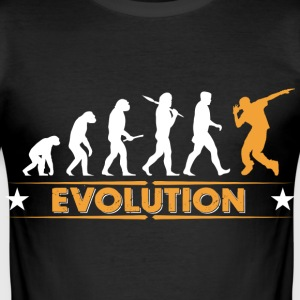 HipHop Breakdance Evolution - orange/weiss T-Shirts - Männer Slim Fit T-Shirt