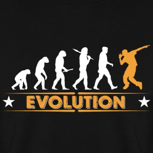 HipHop break dance evolution - orange/white Hoodies & Sweatshirts - Men's Sweatshirt
