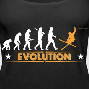 Skiing evolution - orange/white Tops - Women's Premium Tank Top