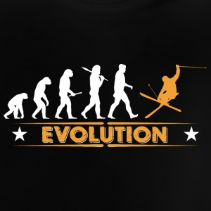 Skiing evolution - orange/white Baby Shirts  - Baby T-Shirt