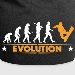 Snowboard Evolution - orange/weiss Caps & Hats - Jersey Beanie