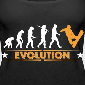 Snowboard Evolution - orange/weiss Tops - Frauen Premium Tank Top