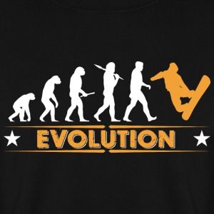 Snowboard Evolution - orange/weiss Hoodies & Sweatshirts - Men's Sweatshirt