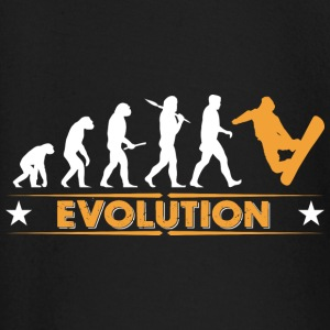 Snowboard Evolution - orange/weiss baby shirts met lange mouwen - T-shirt