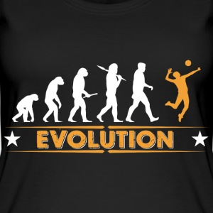 Volleyball Evolution - orange/weiss Tops - Frauen Bio Tank Top