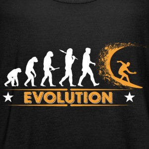 Surfing Evolution - orange/weiss Tops - Frauen Tank Top von Bella