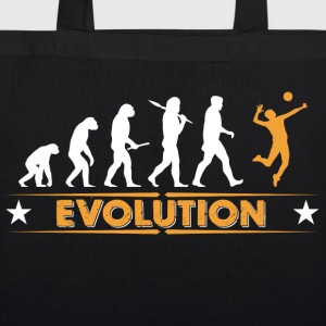 Volleyball Evolution - orange/weiss Bags & Backpacks - EarthPositive Tote Bag