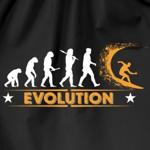 Surfing Evolution - orange/weiss Bags & Backpacks - Drawstring Bag