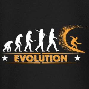 Surfing Evolution - orange/weiss Baby Langarmshirts - Baby Langarmshirt