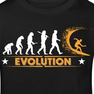 Surfing Evolution - orange/weiss Shirts - Kinderen Bio-T-shirt