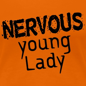 Nervous young Lady T-Shirts - Frauen Premium T-Shirt