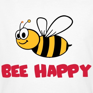 bee happy  T-Shirts - Männer Bio-T-Shirt