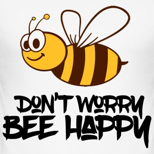 bee happy T-Shirts - Männer Slim Fit T-Shirt