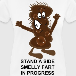 Stand  a side smelly fart in progress - Women's Breathable T-Shirt