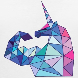 Unicorn with biceps T-Shirts - Women's V-Neck T-Shirt