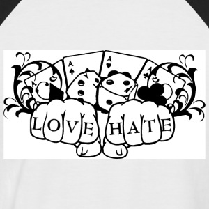 Love and Hate - Männer Baseball-T-Shirt