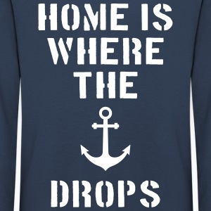 home is where the anchor drops Anker Hamburg Shirts met lange mouwen - Kinderen Premium shirt met lange mouwen