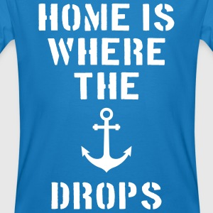 home is where the anchor drops Anker Hamburg T-shirts - Organic mænd