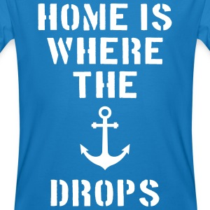 home is where the anchor drops Anker Hamburg T-shirts - Mannen Bio-T-shirt