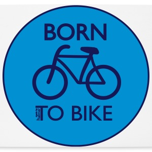 Born To Bike White Sonstige - Mousepad (Querformat)