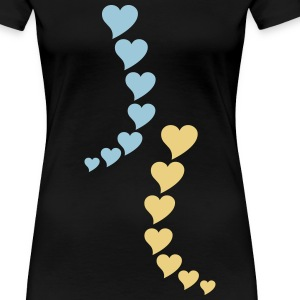 heart left herzlich links T-Shirts - Frauen Premium T-Shirt