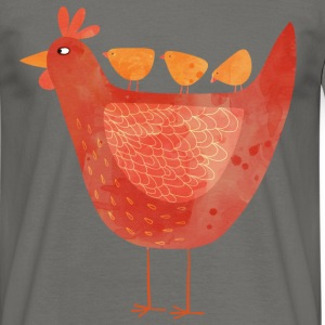Hen and Chicks - Men's T-Shirt