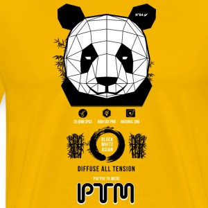 Panda - diffuse all tension - Männer Premium T-Shirt