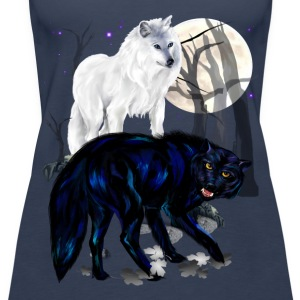 Two Wolves - Frauen Premium Tank Top