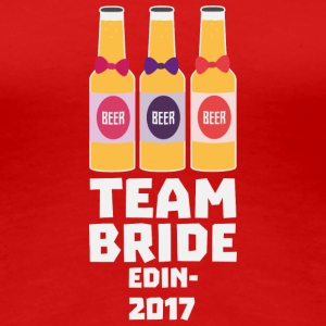 Team Bride Edinburgh 2017 Skd25 T-Shirts - Women's Premium T-Shirt