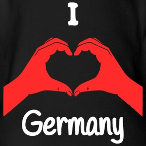 I Love Germany Baby Bodys - Baby Bio-Kurzarm-Body