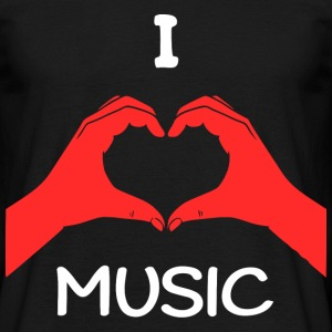 I Love Music T-Shirts - Männer T-Shirt