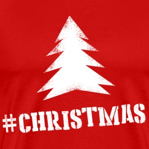 Hashtag Christmas Red Man - Mannen Premium T-shirt