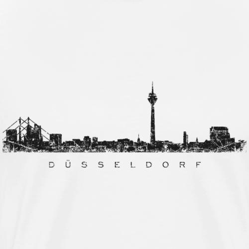 Düsseldorf Skyline Vintage Schwarz
