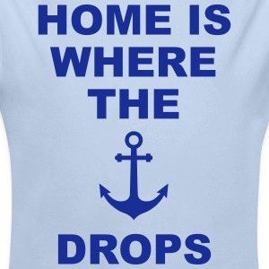 home is where the anchor drops Anker Heimat Liebe Baby Bodys - Baby Bio-Langarm-Body