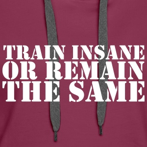 train insane Sweatshirts - Dame Premium hættetrøje