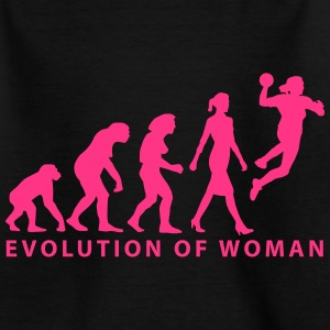 Evolution der Frau Damenhandball_03_2017_b_1c T-Shirts - Kinder T-Shirt