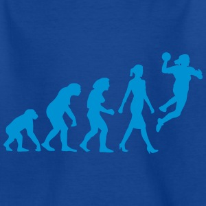 evolution_of_woman_handball_03_2017_a_1c T-Shirts - Kinder T-Shirt
