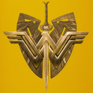 Bros Wonder Woman Logo Shield Sword - Ensfarvet krus