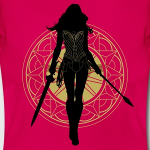 Bros Wonder Woman Weapons Silhouette - Dame-T-shirt