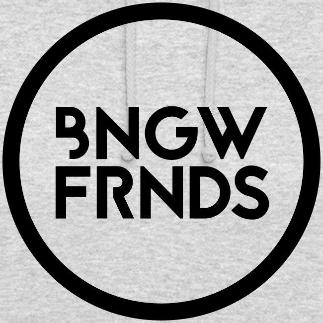 Kapuzenpullover Unisex // BNGWFRNDS (Logo schwarz)